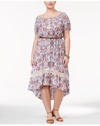 American Rag - Trendy Plus Size Belted High-low Dress - Lyst