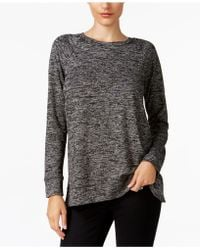 Style & Co. - Melange Raglan-sleeve Knit Top, Created For Macy's - Lyst