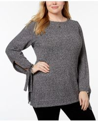 Style & Co. - Plus Size Ribbed-trim Tunic Jumper, Created For Macy's - Lyst