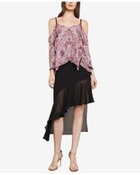 BCBGMAXAZRIA - Cold-shoulder Paisley Top - Lyst