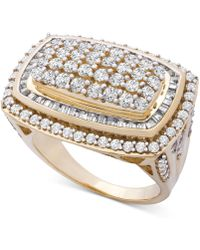 Wrapped in Love - Tm Diamond Cluster Statement Ring (2 Ct. T.w.) In 14k Gold, Created For Macy's - Lyst