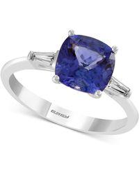 Effy Collection - Effy® Tanzanite (1-9/10 Ct. T.w.) & Diamond (1/8 Ct. T.w.) Ring In 14k White Gold - Lyst