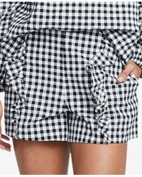 RACHEL Rachel Roy - Calle Gingham Ruffled Shorts, Created For Macy's - Lyst