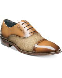 Johnston & Murphy - Barrington Cap-toe Leather Oxfords - Lyst