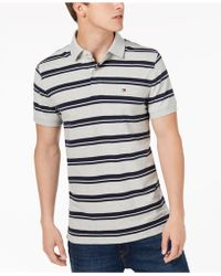 Tommy Hilfiger - Striped Polo, Created For Macy's - Lyst