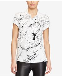 Polo Ralph Lauren | Paint-splattered Cotton Polo | Lyst