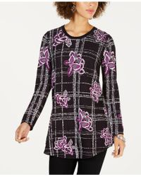 Style & Co. - Patterned Jacquard Sweater, Created For Macy's - Lyst