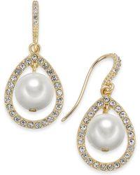 Charter Club - Gold-tone Imitation Pearl Orbital Teardrop Earrings, Created For Macy's - Lyst