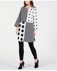 Alfani - Print-block Roll-tab Tunic, Created For Macy's - Lyst