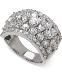 Arabella - Swarovski Zirconia Pave Ring In Sterling Silver - Lyst