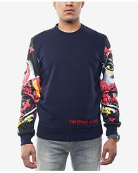 Sean John - Men's Printed-sleeve Sweatshirt - Lyst