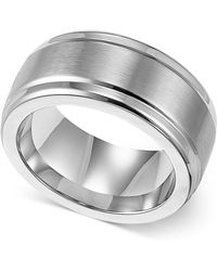 Triton | Men's Stainless Steel Ring, 9mm Wedding Band | Lyst
