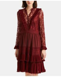 French Connection - Clandre Retro Lace Dress - Lyst