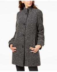Jones New York - Stand-collar Coat - Lyst