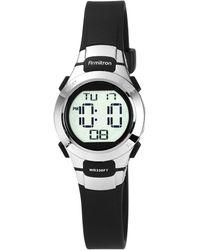 Armitron - Women's Digital Black Strap Watch 27mm 45-7012blk - Lyst