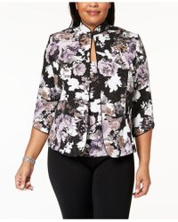 Alex Evenings - Plus Size Metallic Floral-print Jacket & Shell - Lyst