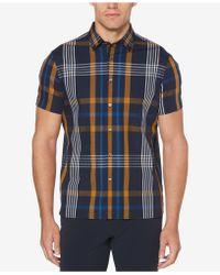 Perry Ellis - Oversized Plaid-print Classic Fit Shirt - Lyst