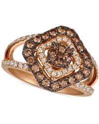 Le Vian - Strawberry & Nudetm Diamond Statement Ring (1 Ct. T.w.) In 14k Rose Gold - Lyst