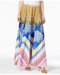 Cable & Gauge - Patchwork-print Maxi Skirt - Lyst