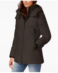Vince Camuto - Hooded Puffer Coat - Lyst