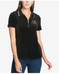 Tommy Hilfiger - Monogrammed Zippered Polo Top - Lyst
