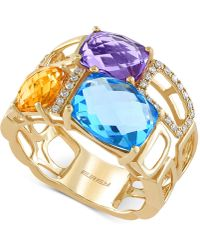 Effy Collection - Multi-stone (6-7/8 Ct. T.w) And Diamond (1/10 Ct. T.w.) Mosaic Ring In 14k Gold - Lyst