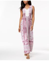Style & Co. - Crocheted Maxi Dress, Created For Macy's - Lyst