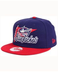 KTZ - Columbus Blue Jackets Logo Stacker 9fifty Snapback Cap - Lyst