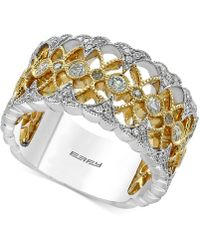 Effy Collection | Diamond Openwork Ring (1/2 Ct. T.w.) In 14k Gold And White Gold | Lyst