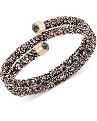 Swarovski - Crystaldust Coil Wrap Bracelet - Lyst