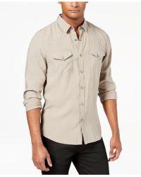 Guess - Men's Sandwashed Western Shirt - Lyst