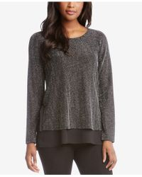 Karen Kane - Metallic Layered-look Jumper - Lyst