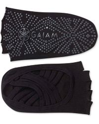 Gaiam - Grippy Toeless Yoga Socks - Lyst