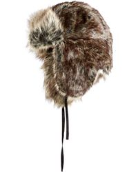 9ff265b0696 Lyst - Woolrich Wool Aviator With Faux Fur Lining And Earflaps in ...