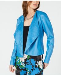 INC International Concepts - I.n.c. Draped Front Faux-leather Jacket, Created For Macy's - Lyst