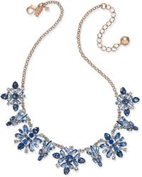 Kate Spade - 14k Rose Gold-plated Crystal Collar Necklace - Lyst