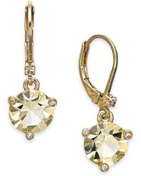 Kate Spade - Gold-tone Crystal Drop Earrings - Lyst