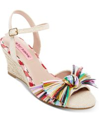 Betsey Johnson - Lizzie Wedge Sandals - Lyst