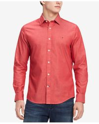 Tommy Hilfiger - New England Custom Fit Oxford Shirt, Created For Macy's - Lyst