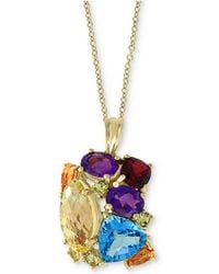 "Effy Collection - Effy® Multi-gemstone 18"" Pendant Necklace (14 Ct. T.w.) In 14k Gold - Lyst"