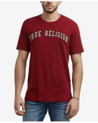 True Religion - Embroidered Logo T-shirt - Lyst