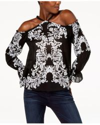 INC International Concepts - I.n.c. Cotton Cold-shoulder Top, Created For Macy's - Lyst