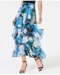 INC International Concepts - I.n.c. Tiered Floral-print Skirt, Created For Macy's - Lyst