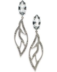 Danori - Silver-tone Marquise Crystal Drop Earrings, Created For Macy's - Lyst