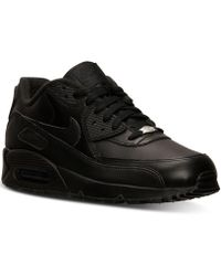 Nike - Men s Air Max 90 Leather Running Sneakers From Finish Line - Lyst 99b383356