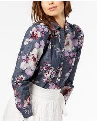 JILL Jill Stuart - Cotton Chambray Shirt - Lyst