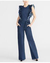 4444ecf79102 Lyst - RACHEL Rachel Roy Wide-leg Denim Jumpsuit in Blue