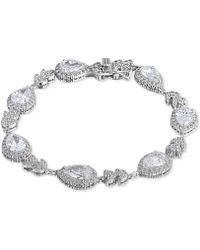 Giani Bernini - Cubic Zirconia Teardrop Link Bracelet In Sterling Silver, Created For Macy's - Lyst