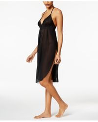 Linea Donatella - Juliet Lace-trimmed Chiffon Midi Nightgown - Lyst