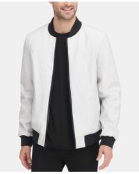 94087653b Soft Faux-leather Bomber Jacket, Created For Macy's